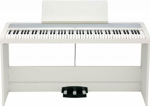 Korg B2SP Digital Piano with Wooden Stand and Pedal-board - White - B2SP-WH